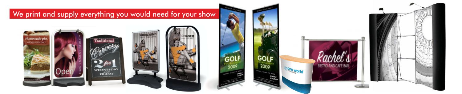 Exhibition Stand Sale, Printing & Supply in Newton Abbot, Torquay, Exeter, Plymouth, Totnes, Paignton, South Devon, South West England